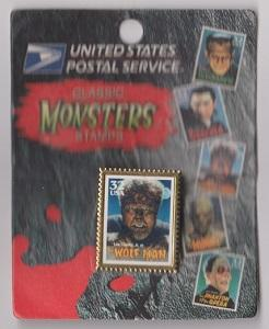 USPS Stamp Pin:  Scott #3172 Wolf Man from the Movie Monsters Series