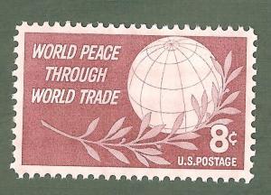 1129 World Peace Through World Trade US Single Mint/nh FREE SHIPPING