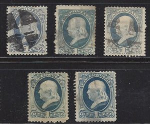 United States 156 Very Nice Stamp5  Yes! 5 of them.