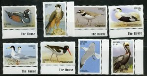 LIBERIA BIRDS SET SCOTT# 1456/63 MINT NH