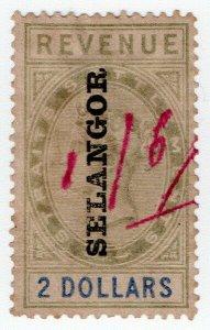 (I.B) Malaya States Revenue : Selangor Duty $2