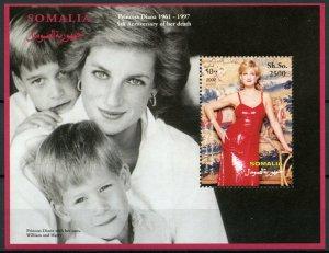 Somalia Royalty Stamps 2002 MNH Princess Diana Prince Harry William 1v S/S IV