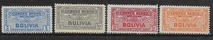 BOLIVIA   C35-C38 MINT HINGED AIR SERVICE EMBLEM ISSUES 1932