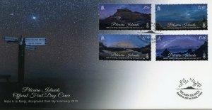 Pitcairn Islands 2019 FDC Dark Sky Sanctuary Mata Ki Te Rangi 4v MS Cover Stamps