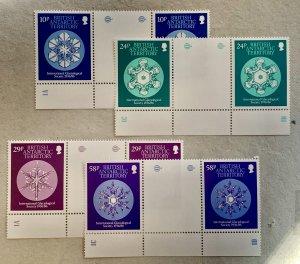British Antarctic Territory 1986 Snowflake gutters, MNH. Scott 133-136, CV $8.30
