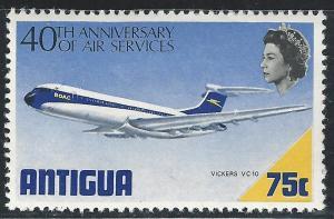 Antigua #236 75c Plane - Vickers VC10