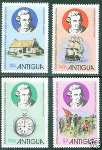 Antigua MNH 547-50 200th Anniversary Death Captain James Cook Ship 1979
