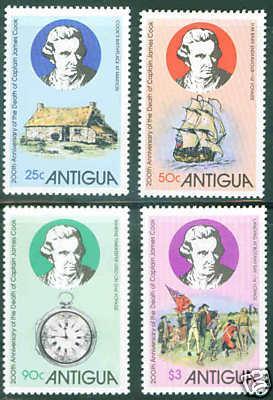 Antigua MNH 547-50 200th Anniversary Death Captain James Cook Ship 1979