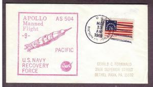 Apollo Recovery Ship: AS-9, U.S.S. Nicholas - Secondary Ship