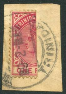 TRINIDAD Sc#69a SG107a 1883 Half Used as ½p on Piece RARE!