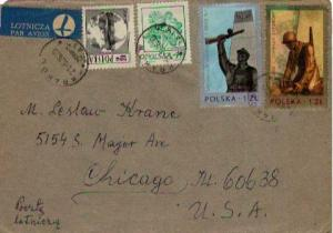 Poland, Airmail, Military Related, Flowers, Maps, Ships