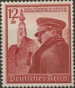 Stamp Germany Mi 691 Sc B137 1939 WWII 3rd Reich Adolf Birthday MH