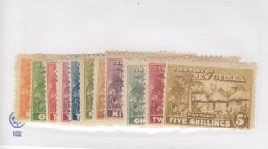 NEW GUINEA # 1-11 VF-MNH/MLH/MH CAT VALUE $167.50