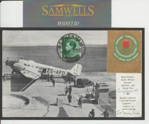 MS230 1936 South Africa Empire Exhibition Card to GB