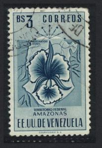 Venezuela Arms issue Federal Territory of Amazonas Orchid 3Bs canc KEY VALUE