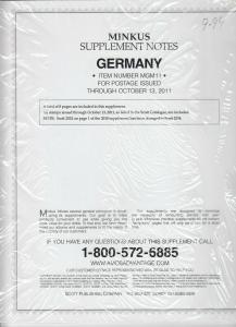 Minkus Album Supplement Germany Isuues Through Nov 2011