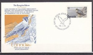 Canada, Scott cat. 752. Endangered Bird issue. First day cover. ^