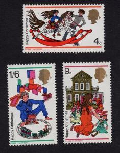 Great Britain  #572-574  1968 MNH Christmas