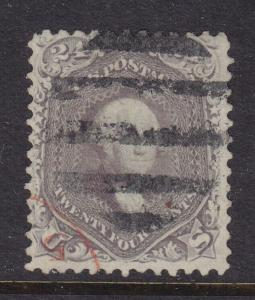 78 VF+ used neat Bar cancel with nice color cv $ 375 ! see pic !