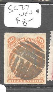 BOLIVIA (P1503B)  10C  SC 27  VFU