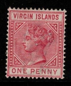 VIRGIN ISLANDS SG29a 1884 1d DEEP ROSE MTD MINT