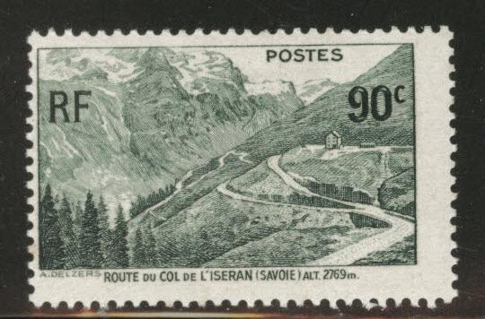 FRANCE Scott 334 MH* 1937 mountain road stamp CV$1.90 Faulty