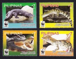 Philippines WWF Philippine Crocodile 4v MI#4500-4503