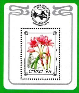 Ciskei - 1988 Philatelic Foundation Flowers MS MNH**