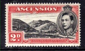 Ascension Island 1938 - 53 KGV1 2d Scarlet & Black MM SG 41c ( R718 )