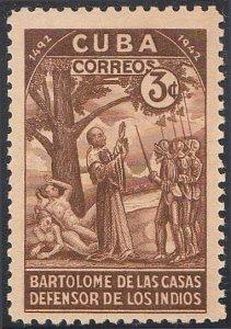 1944 Cuba Stamps Discovery of America Bartolome de Las  Casas NEW