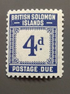 Solomon Islands J4 F-VF MLH.  Scott $ 7.25