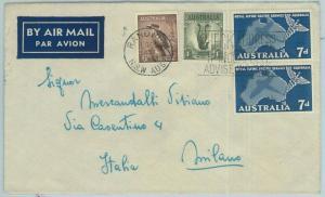 67341 - AUSTRALIA - Postal History -   COVER to ITALY  1957 - Birds MEDICINE
