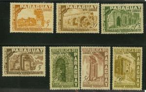 Paraguay 491-497 Mint VF H (4 with sm thins)