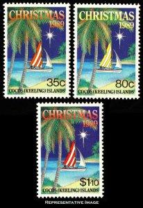 Cocos Islands Scott 207-209 Mint never hinged.