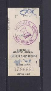 1958 P.O. RECEIPT FOR PURCHASE OF ENVELOPES