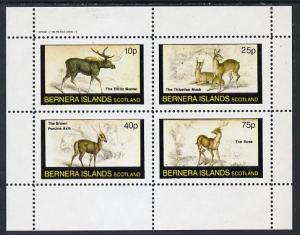 Bernera 1982 Animals (Elk, Axis etc) perf  set of 4 value...