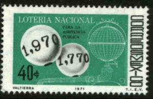 MEXICO 1031 Bicentenary of the National Lottery MINT, NH. VF.