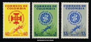 Colombia Scott C426-C428 Mint never hinged.