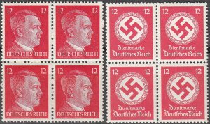 Stamp Selection Germany Block WWII 3rd Reich Hitler Official 12PF MNH
