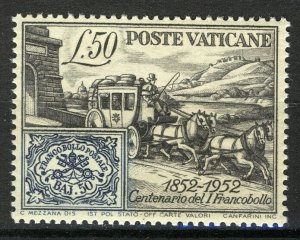 Vatican 1952, 100th anniv first stamp VF MNH, Mi 188 A