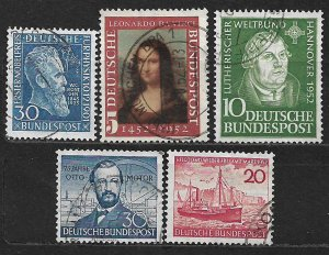 COLLECTION LOT OF 5 GERMANY 1951+ STAMPS CV+$40