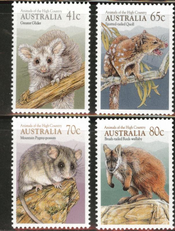 AUSTRALIA Scott 1166-1169 MNH** 1990 High Country Fauna set