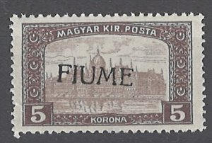 COLLECTION LOT # 2020 FIUME #19 MNH 1918 CV= $275