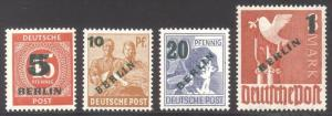 GERMANY #9N64-67 MInt NH - 1949 Surcharge Set