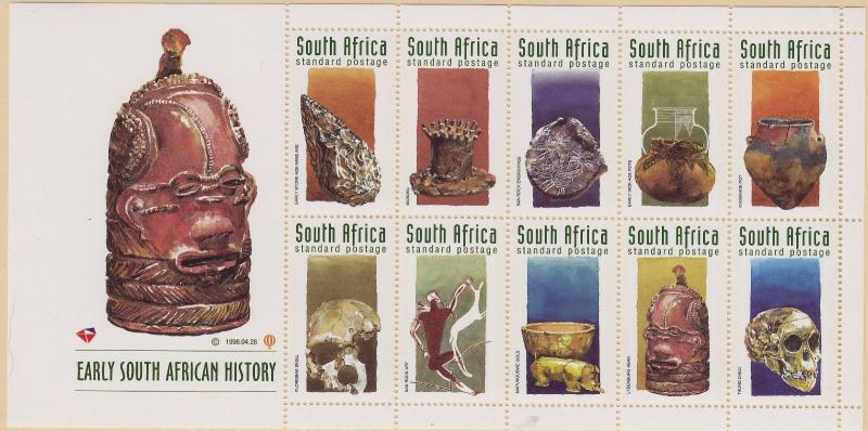 SOUTH AFRICA MNH Scott # 1064a Historical Artifacts Sheet (1 Sheet)