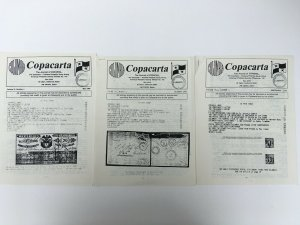 Colombia Panama Copacarta Copaphil Journal. Three issues from 1989