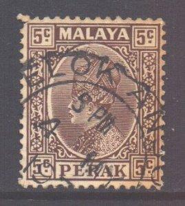 Malaya Perak Scott 72 - SG91, 1935 Sultan 5c used