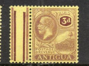 Antigua 1920s GV Early Issue Fine Mint Hinged 3d. 304929
