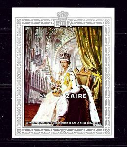 Zaire 891 MNH 1978 QEII Silver Jubilee S/S