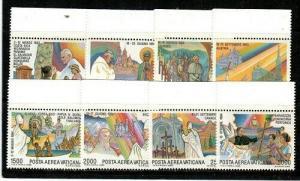 Vatican City Scott C75-82 Mint NH (Catalog Value $21.15)